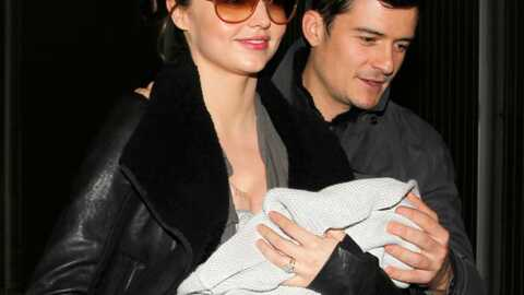 PHOTOS Orlando Bloom et Miranda Kerr à Paris avec Flynn