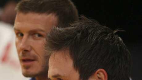 PHOTOS Zac Efron et David Beckham à un match de basket