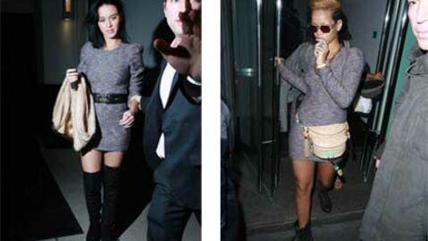 LOOK Rihanna et Katy Perry avec la même robe-pull