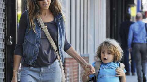 Sarah Jessica Parker et son fils rentrent à la maison