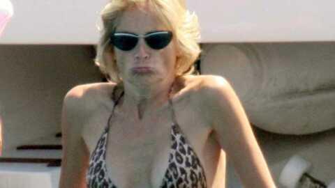 PHOTOS Sharon Stone en bikini en Sardaigne
