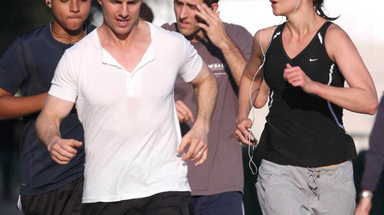 PHOTOS : Tom Cruise et Katie Holmes, jogging en famille