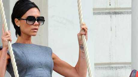 PHOTOS Victoria Beckham sur une balançoire à Londres
