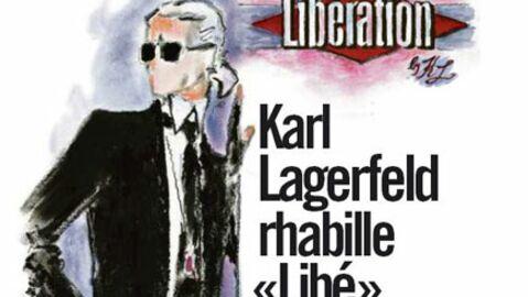 Karl Lagerfeld taille un costard à Libération