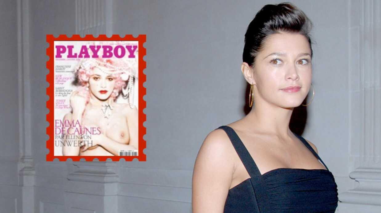 Emma de Caunes nue, sexy et hot dans Playboy