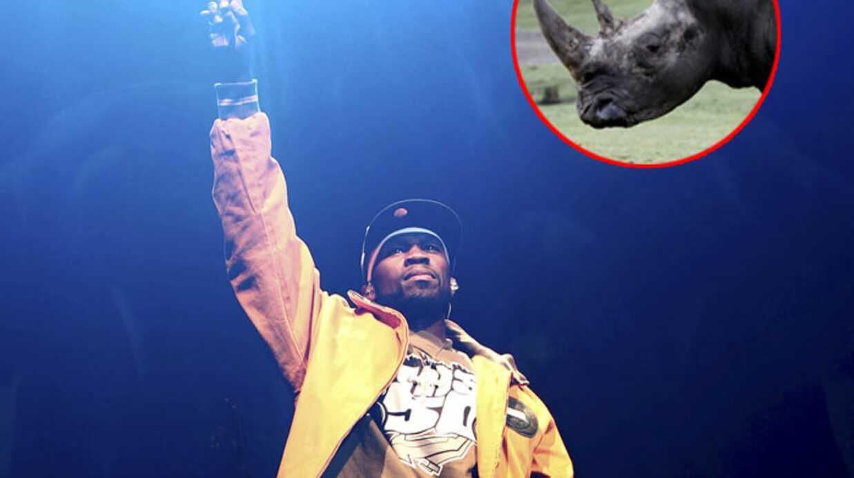 50 Cent appelé à la rescousse d'un rhinocéros