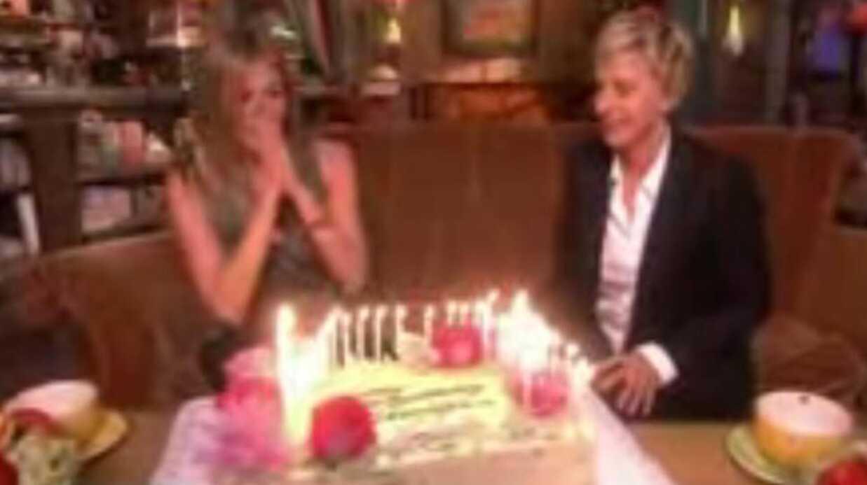 Jennifer Aniston: un beau gâteau d'anniversaire