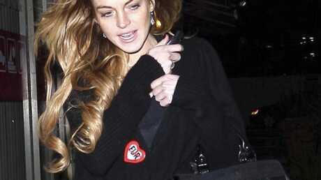 Lindsay Lohan porte un badge anti-fourrure
