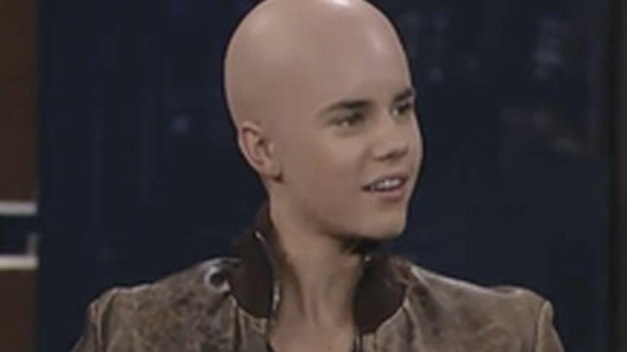 VIDEO Justin Bieber chauve pour une émission télé