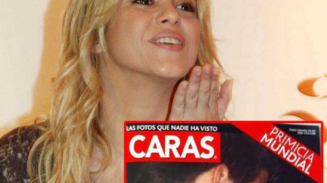 PHOTO Shakira et Gerard Piqué s'embrassent