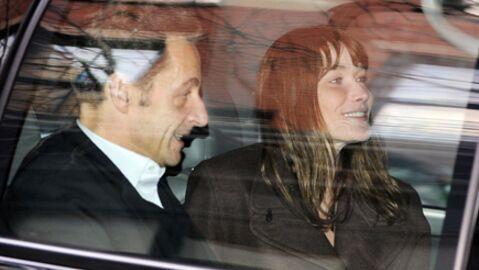 Nicolas Sarkozy et Carla Bruni aux sports d'hiver