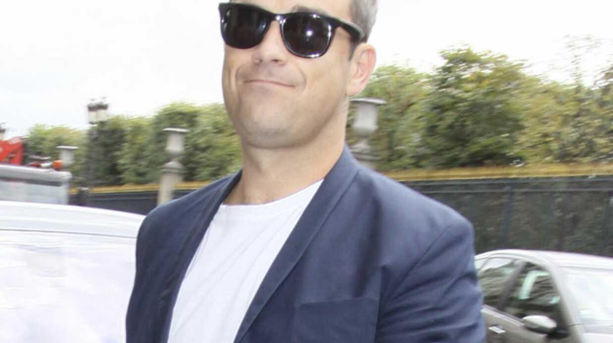 Robbie Williams à l'élection de Miss France