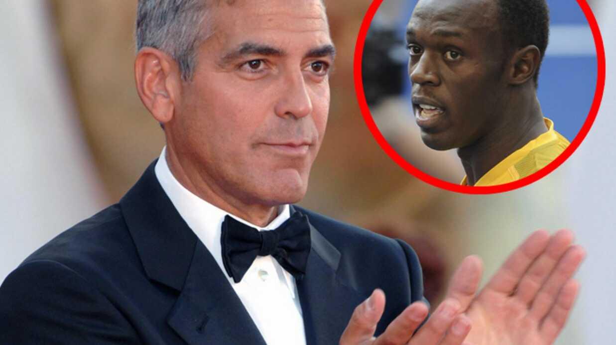 Audiences: George Clooney bat Usain Bolt d'une courte tête