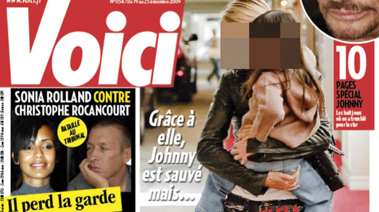 Voici: 10 pages spéciales Johnny Hallyday