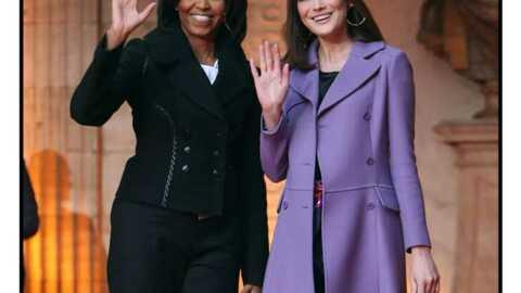 947dc226b55d2d Michelle Obama mieux fringuée que Carla Bruni-Sarkozy - Voici
