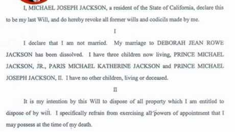 Le testament de Michael Jackson en ligne sur Internet