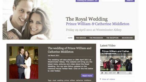 Prince William : lancement du site officiel de son mariage