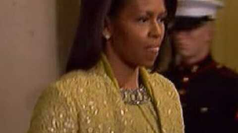Michelle Obama: éclatante pour l'investiture de son mari