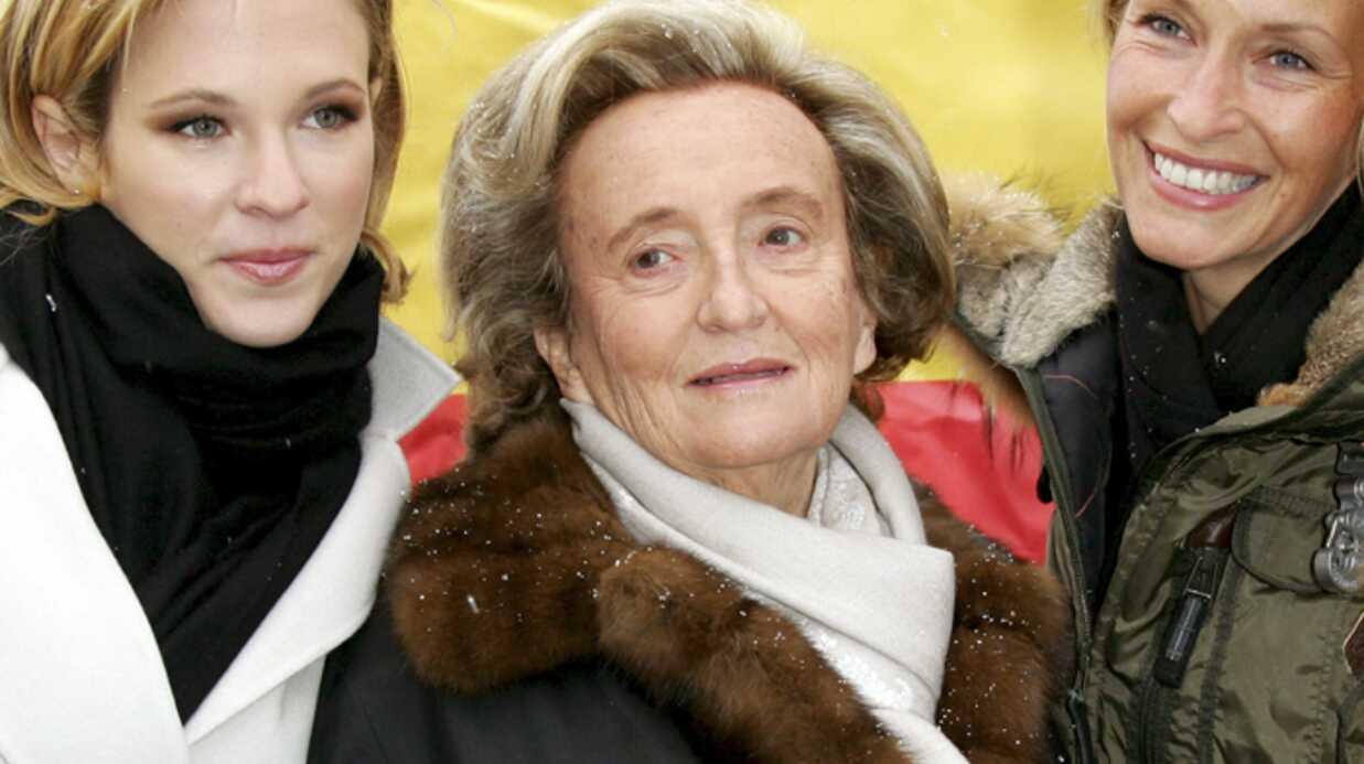 Bernadette Chirac au départ du train des pièces jaunes