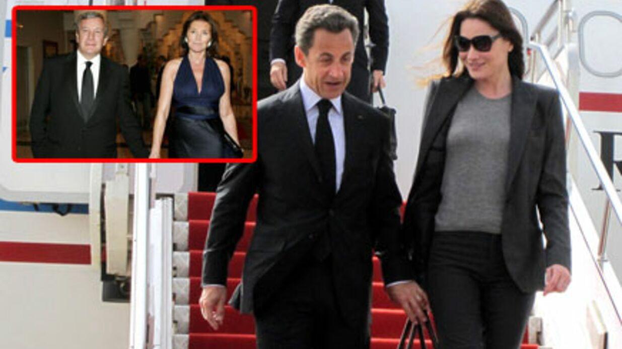 Carla Bruni & Nicolas Sarkozy à New York avec Cécilia Attias