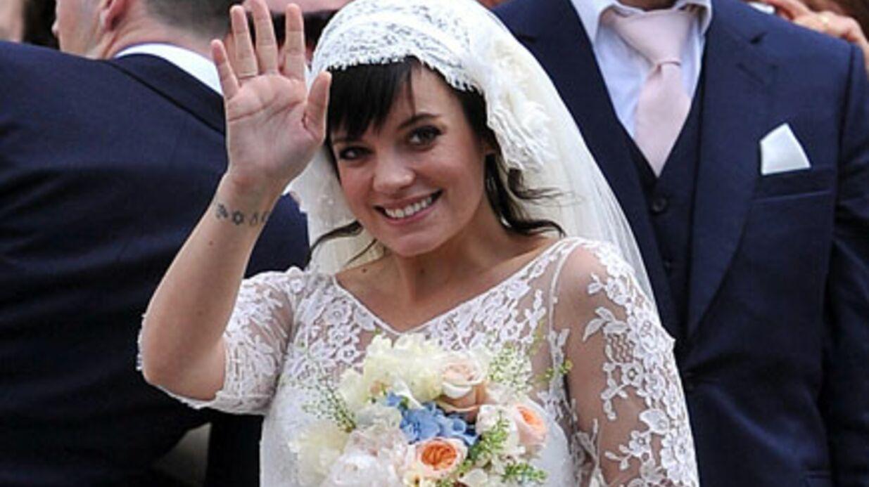 Lily Allen:  ses deux robes de mariage