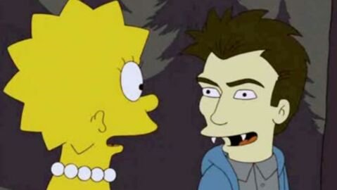 Robert Pattinson dans un épisode des Simpson