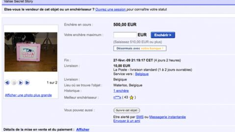 Secret Story Nathalie vend sa valise sur eBay