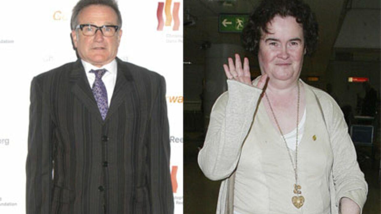 Robin Williams pourrait incarner Susan Boyle au cinéma