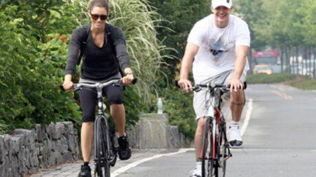 Justin Timberlake et Jessica Biel: duo à vélo