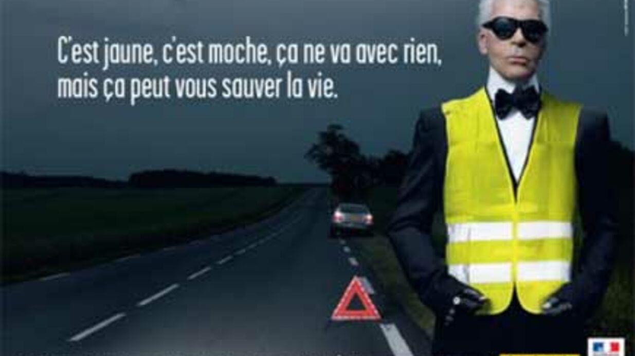 Sécurité routière: Karl Lagerfeld n'a pas porté de gilet jaune