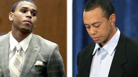 Chris Brown soutient à fond Tiger Woods