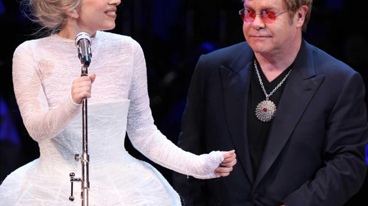 Lady Gaga: marraine du fils d'Elton John