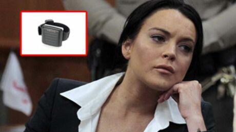 Lindsay Lohan: la classe, son bracelet anti-alcool