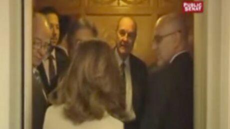 Jacques Chirac: plan drague devant les caméras