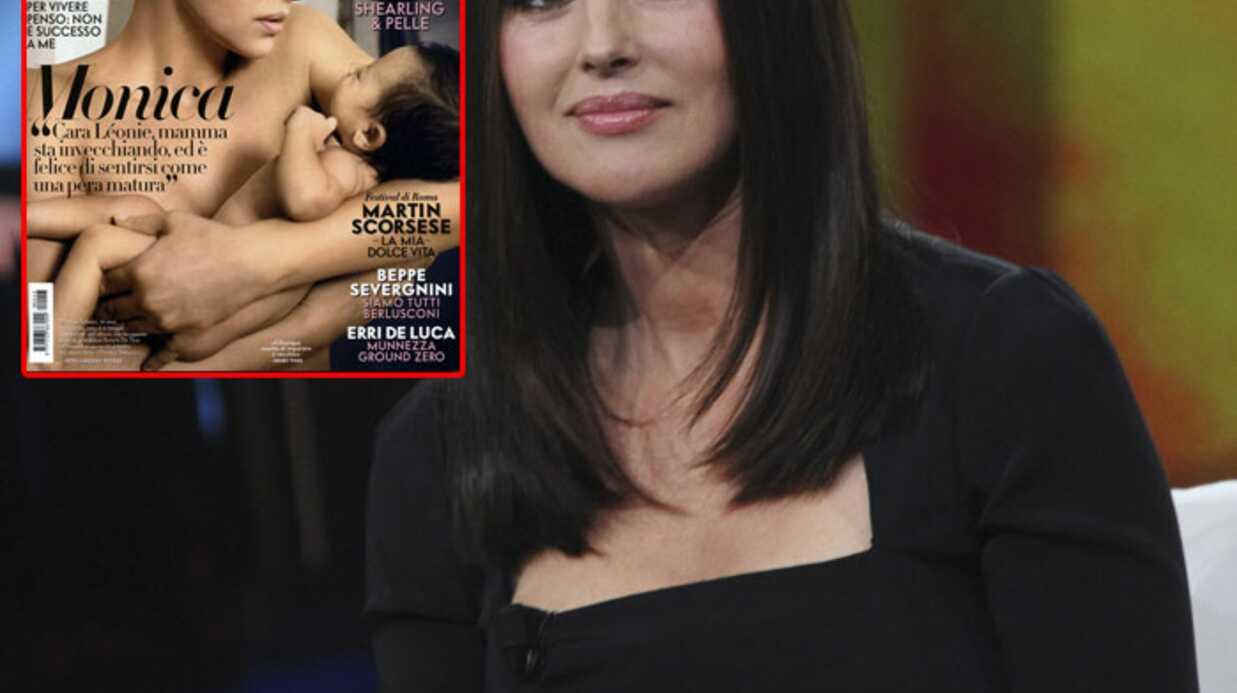 PHOTO Monica Bellucci et son bébé en couverture de Vanity Fair