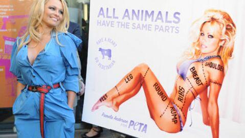 Pamela Anderson à l'université d'Oxford pour la PETA