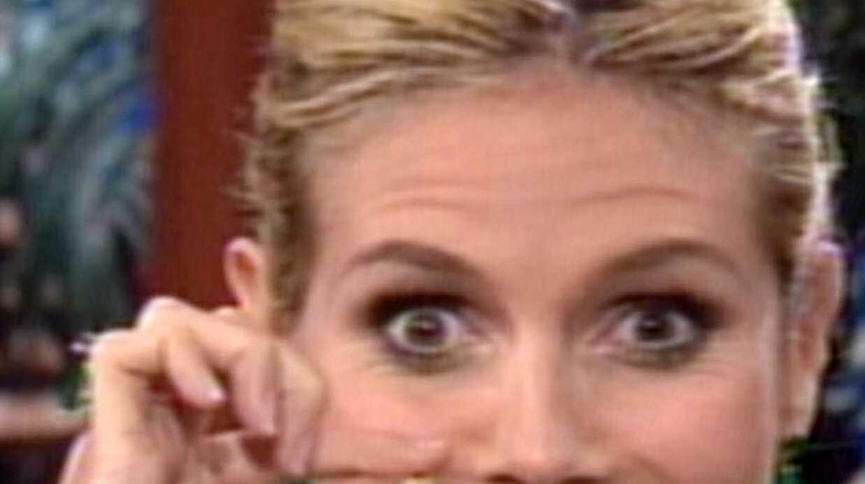 Heidi Klum présente ses dents de lait chez Jay Leno