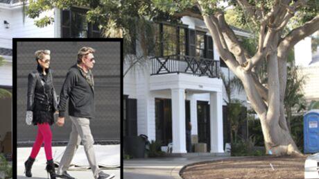 Johnny Hallyday vient d'emménager dans sa nouvelle maison!