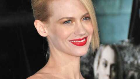 January Jones (Mad Men) seule et enceinte