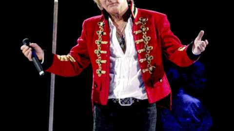 Rod Stewart Le rockeur ne manque pas d'air