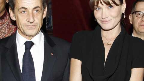 Carla Bruni et Nicolas Sarkozy: très sobres au dîner d'Aides