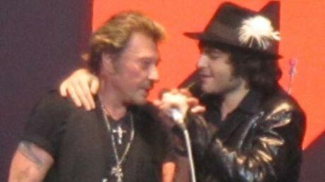 Photo: Regardez le retour de Johnny Hallyday sur scène