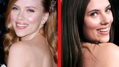 LOOK Scarlett Johansson passe du blond au brun