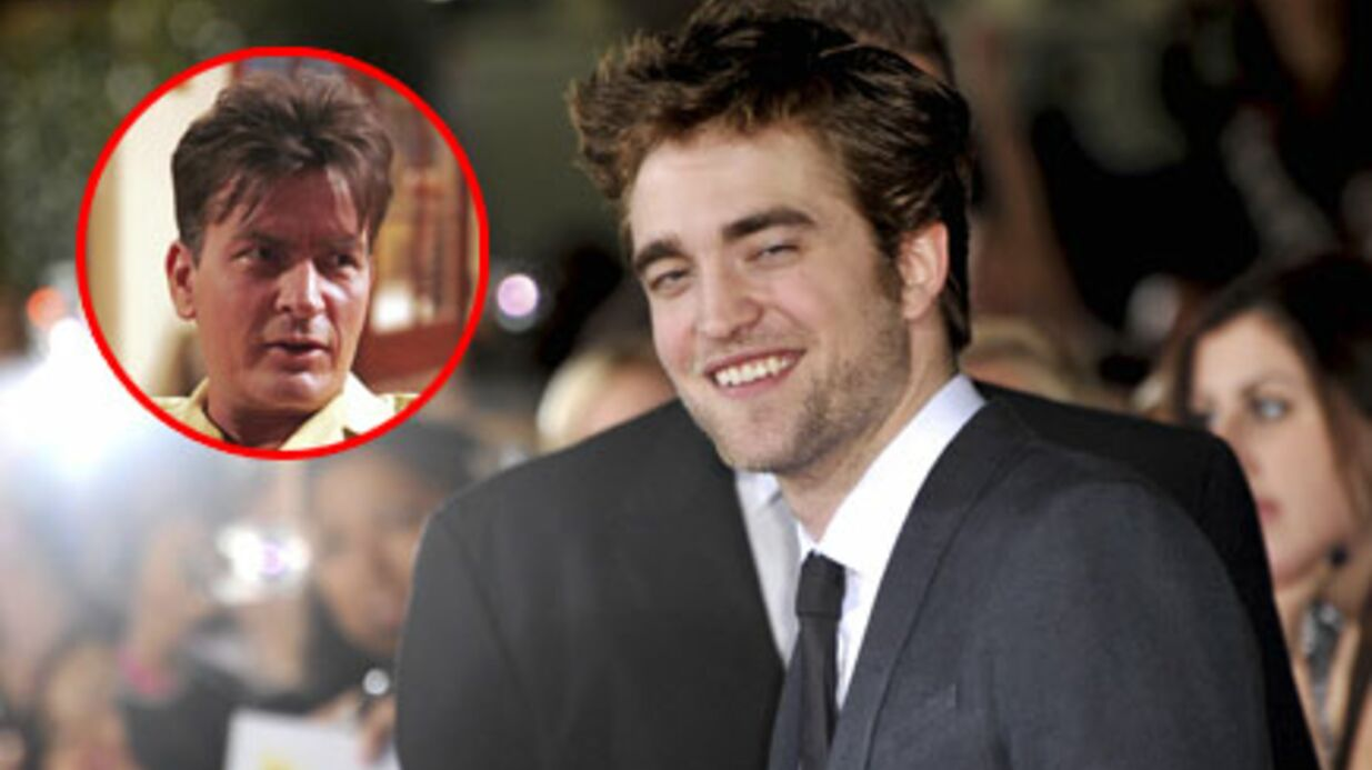 Robert Pattinson crie son amour pour Charlie Sheen