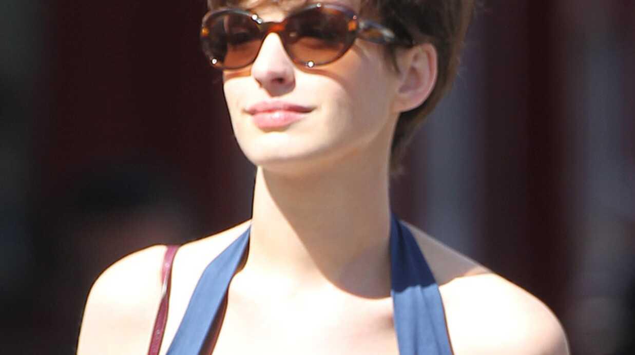 PHOTO Anne Hathaway: nouvelle coupe de cheveux