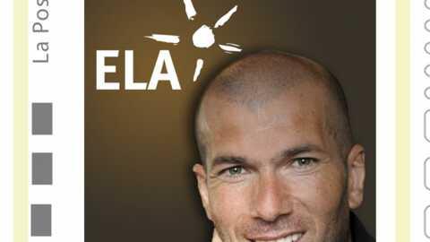 Zinedine Zidane sur un timbre pour la bonne cause