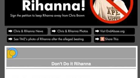 Rihanna: une pétition contre son histoire avec Chris Brown