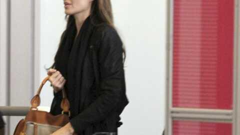 Angelina Jolie en visite à la frontière libyenne