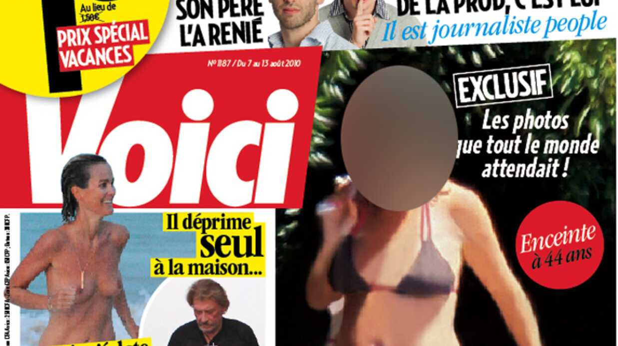 Laeti­cia Hally­day topless dans Voici