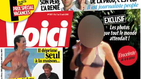 Laeticia Hallyday topless dans Voici